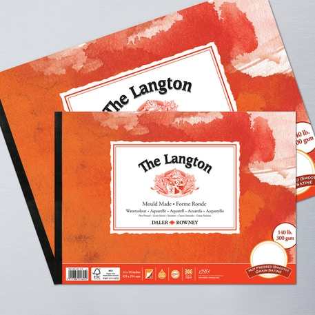 Daler Rowney Langton Watercolour Pad Hot | Artist Watercolour Paper | Cass Art