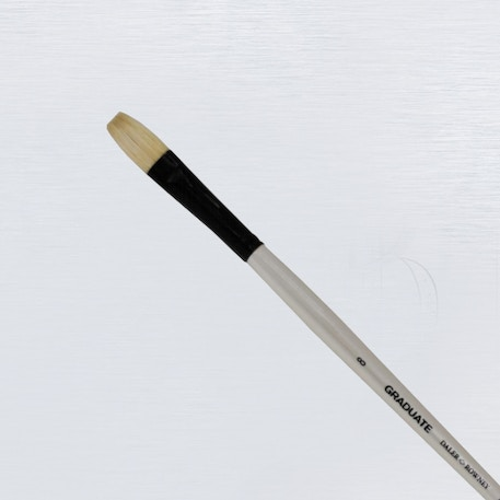 Daler Rowney Graduate Long Handle Bristle Flat Brush | Cass Art