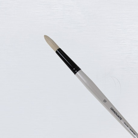 Daler Rowney Graduate Long Handle Bristle Round Brush | Cass Art