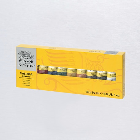 Winsor & Newton Galeria Tube 60ml Set of 10 | Best Value Acrylic Paint | Cass Art