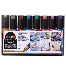 Uni POSCA PC-8K Marker Pen Metallic Colours Set of 8