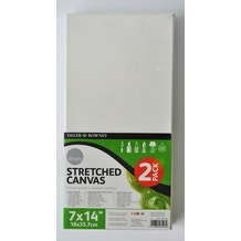 Daler Rowney Simply Stretched Canvas 14 x 7 inches Pack of 2