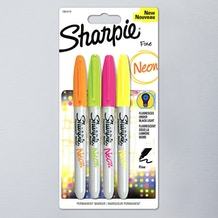 Sharpie Fine Permanent Marker Neon Colours Set of 4