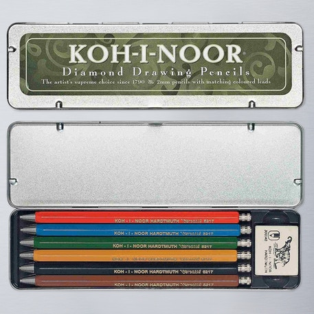 Koh-i-noor Mechanical Pencils Set of 6 | Cass Art
