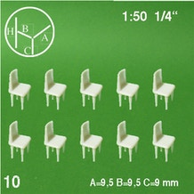 Schulcz Chair Scale Models 1:50 Pack of 10