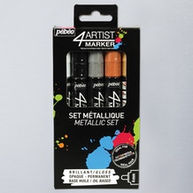 Pebeo 4Artist Marker 4mm Set of 5