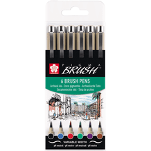 Sakura Pigma Brush Pens Set of 6