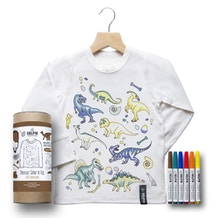 Selfie Dinosaur Colour in Top Size Ages 6-8