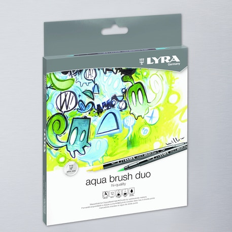 Lyra Aqua Brush Duo Set of 12 | Cass Art