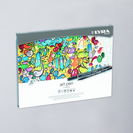Lyra Art Pen Fibre Tip Pen Metal Tin Set of 20 | Cass Art