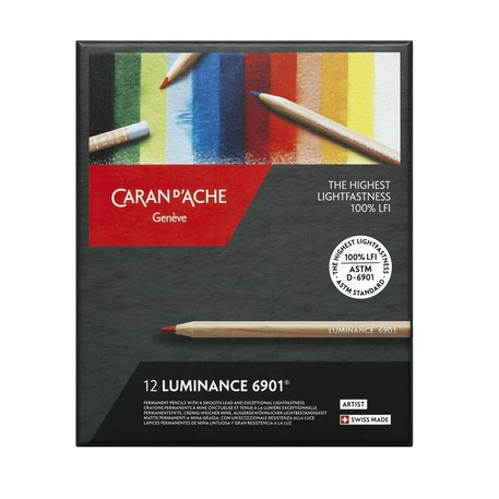 Caran D'ache Luminance 6901 Professional Colour Pencil Assorted Colours Set of 12