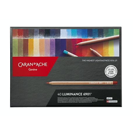 Caran D'ache Luminance Pencils Assorted Colours Set of 40
