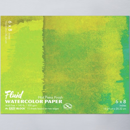 Fluid Watercolour Easy Block Hot Pressed 300gsm | Cass Art
