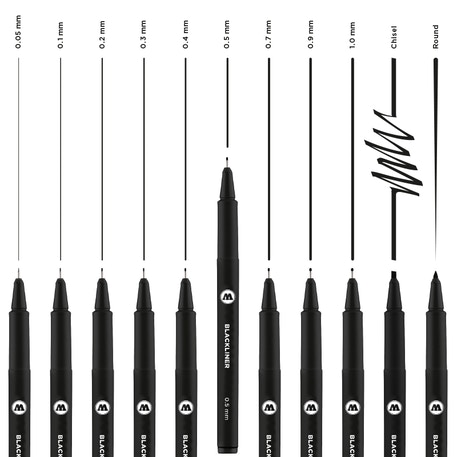 Molotow Blackliner Complete Set of 11 | Cass Art