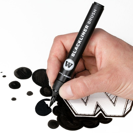 Molotow Blackliner Brush & Refill Blister Marker Set | Cass Art
