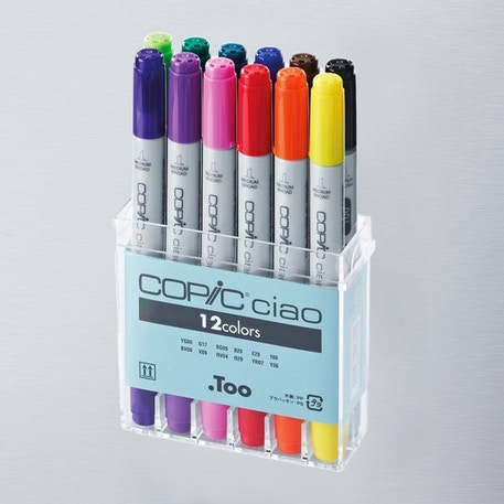 Copic Ciao Markers Basic Set of 12 | Cass Art