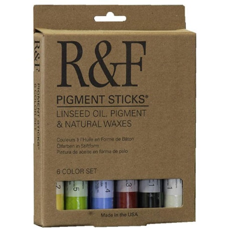 R&F Pigment Sticks Introductory Set of 6 38ml | Cass Art