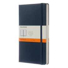 Moleskine Classic Ruled Hard Back Sapphire Blue Large Notebook
