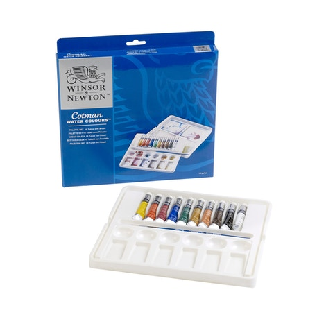 Winsor & Newton Cotman Watercolour Palette 8ml Assorted Colours Set of 10
