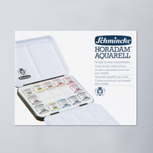 Schmincke Horadam Aquarell Metal Tin with China Palette Half Pan Set of 12