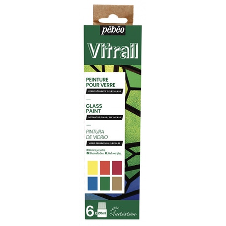 Pebeo Initiation Set Vitrail 20ml Assorted Colours Set of 6