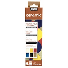 Pebeo Initiation Set Ceramic 20ml Assorted Colours Set of 6