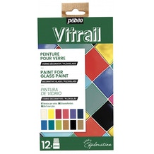 Pebeo Explorer Set Vitrail 20ml Assorted Colours Set of 12