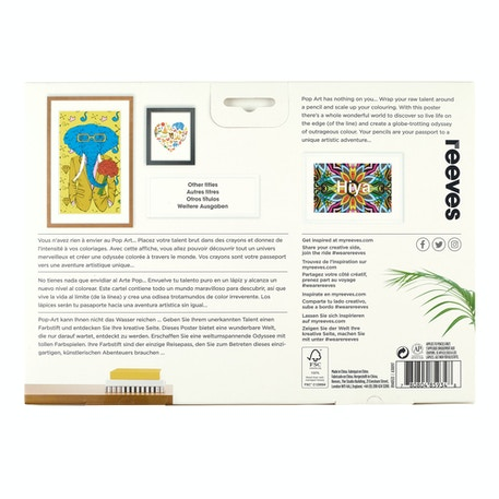 Reeves Colouring Poster & 12 Pencils Big Wide World Assorted Colours | Cass Art