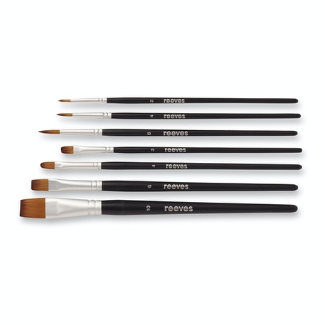 Reeves Watercolour Synthetic Brushes Set of 7 | Cass Art
