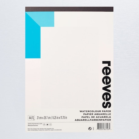 Reeves Watercolour Pad 190gsm 12 Sheets A4 | Cass Art