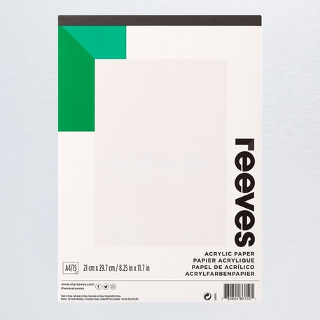 Reeves Acrylic Pad 190gsm 15 Sheets A4 | Cass Art