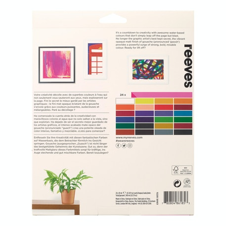 Reeves Gouache 10ml Set of 24 | Cass Art