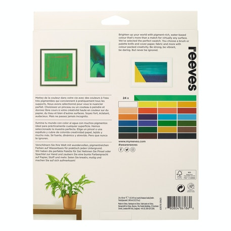 Reeves Acrylic Paint 10ml Set of 24 | Cass Art