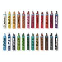 Reeves Water Soluble Wax Pastels Assorted Colours Set of 24