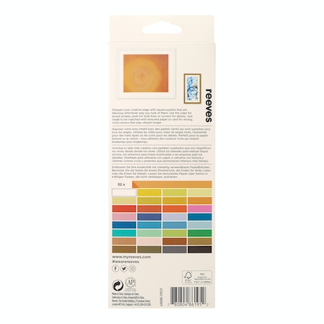 Reeves Half Soft Pastels Assorted Colours Set of 32 | Cass Art
