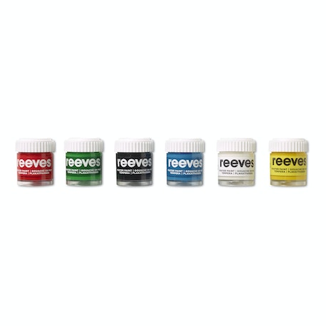Reeves Poster Paint Pot Assorted Colours Set of 6 | Cass Art