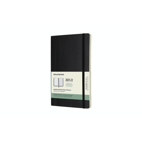 Moleskine Soft Cover 18 Month Planner Weekly Notebook 13 x 21cm Black