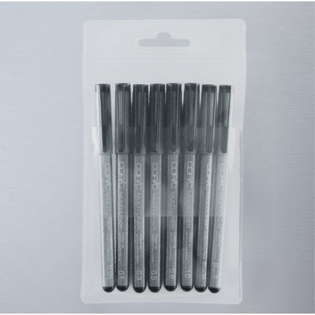 Copic Multiliner Black Set of 8 | Cass Art