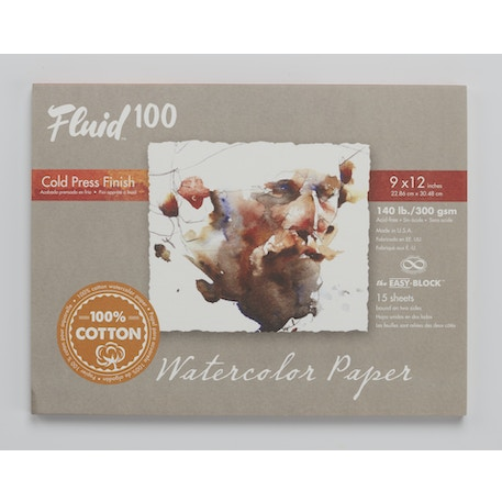 Fluid Cotton Cold Pressed Watercolour Pad 300gsm