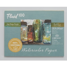 Fluid Cotton Hot Pressed Watercolour Pad 300gsm