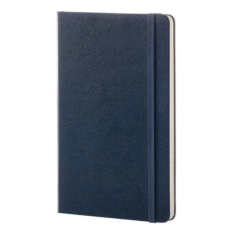 Moleskine Classic Ruled Hard Back Sapphire Blue Notebook | Cass Art