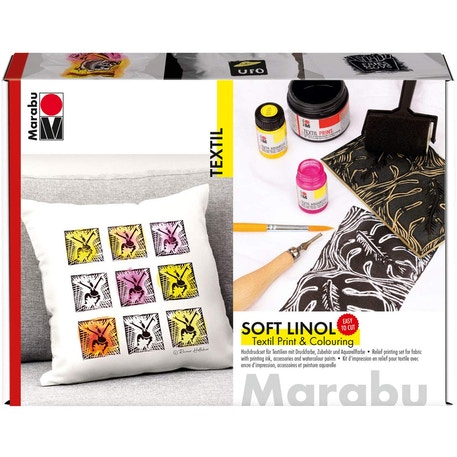 Marabu Soft Linol Print & Colouring Set | Cass Art