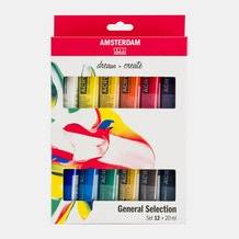 Amsterdam Standard Series Acrylic Paints Set of 12 x 20ml