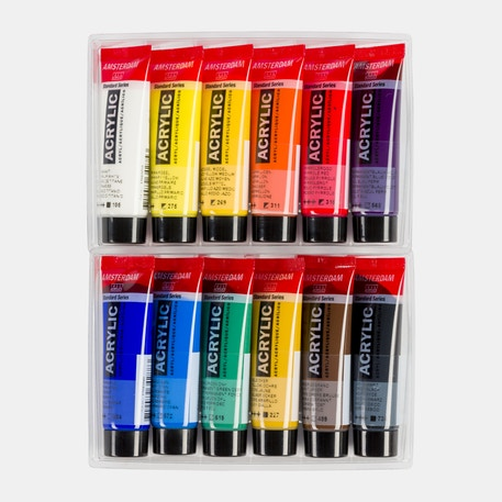 Amsterdam Standard Series Acrylic Paints Set of 12 x 20ml | Cass Art