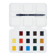 Van Gogh Pocket Box Watercolour Half Pan Assorted Colours Set of 12+3