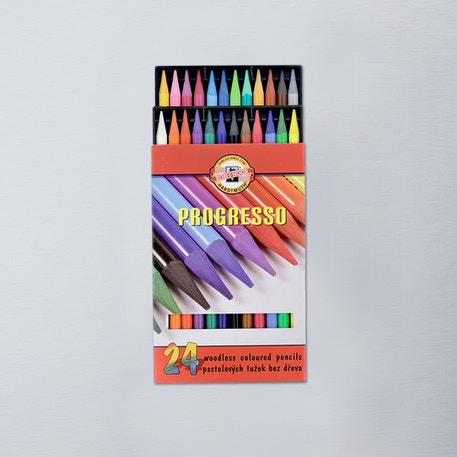 Koh-I-Noor Progresso Woodless Coloured Pencils Set of 24 | Cass Art