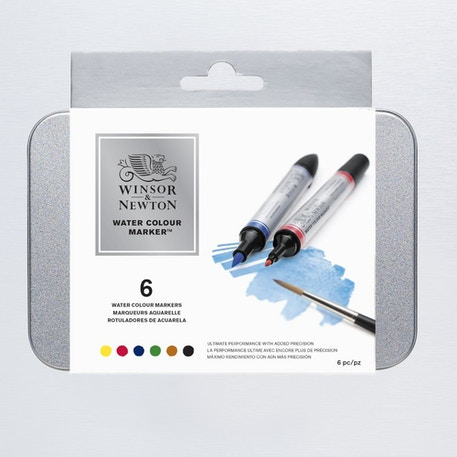 Winsor & Newton Watercolour Marker Set of 6 | Cass Art