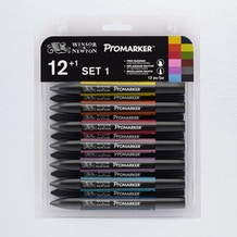 Winsor & Newton ProMarker Set 1 Set of 12 +1