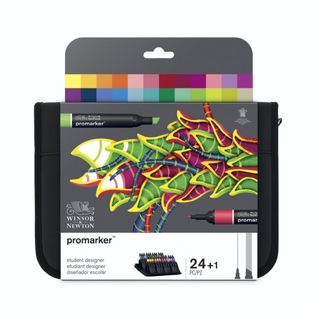 Winsor & Newton ProMarker Student Wallet Set of 24 | Cass Art
