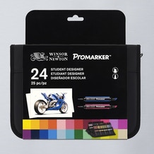 Winsor & Newton ProMarker Student Wallet Set of 24